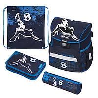 Ранец школьный укомплектованный Herlitz LOOP PLUS Kick It Футбол (50020546), фото 1