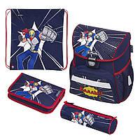 Ранец школьный укомплектованный Herlitz LOOP PLUS Super Hero Супергерой (50020577), фото 1