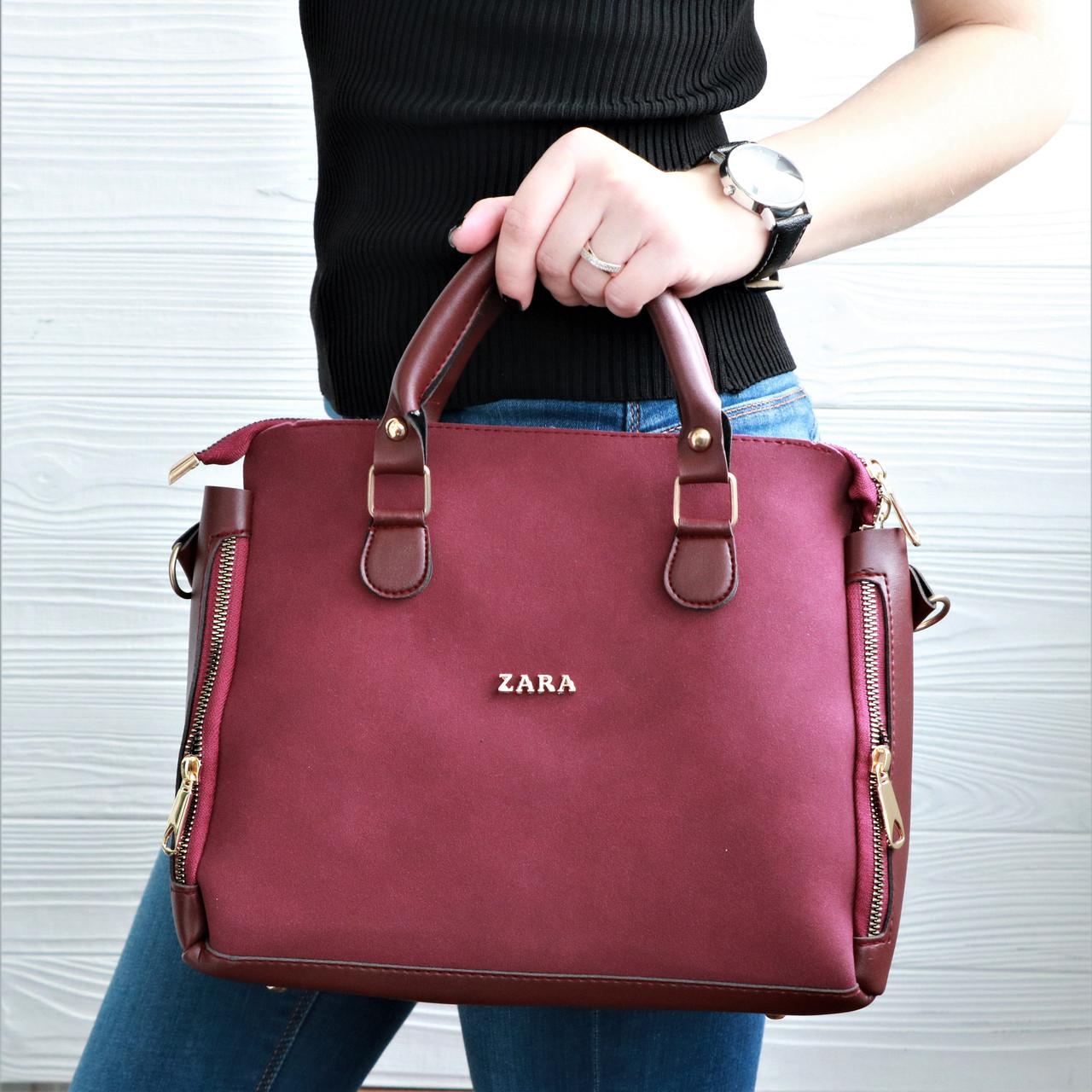 ad9c7b60ab80 Женская сумка копия ZARA Бордовая: продажа, цена в Обухове. женские ...
