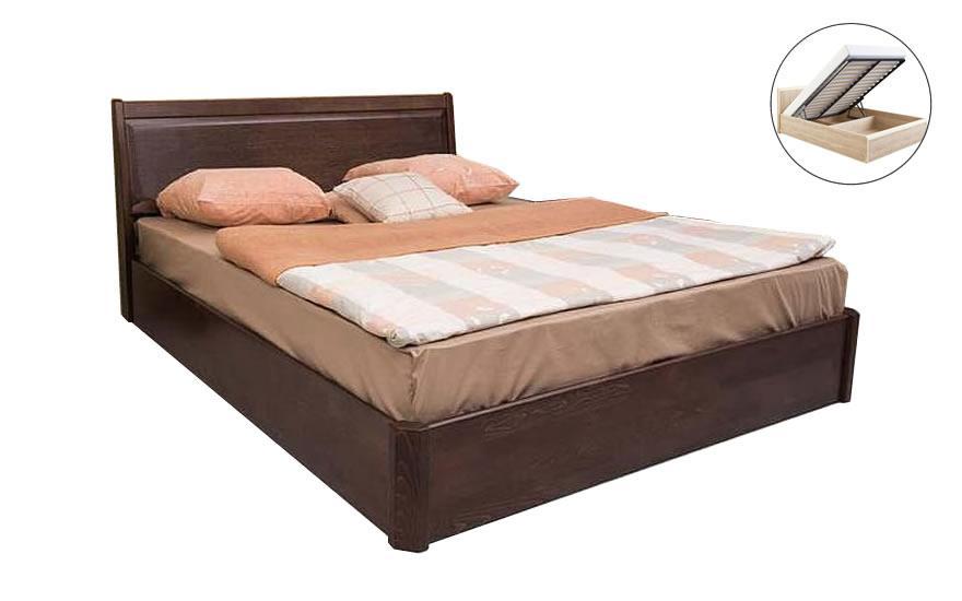 Двуспальная кровать Микс Мебель Сити филенка 1600*2000 с подьемным механизмом