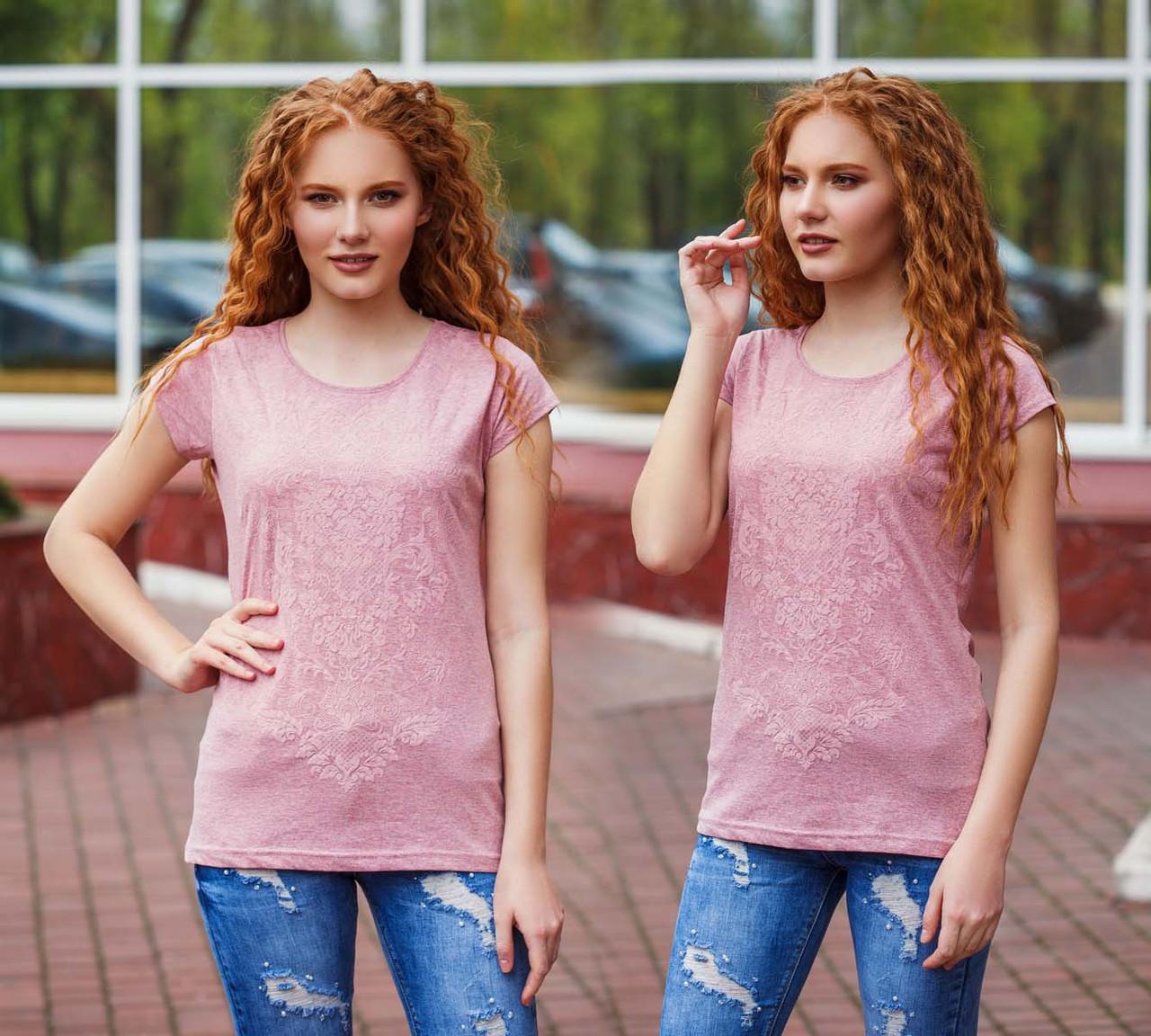 """Женская летняя футболка 99 """"Орнамент 3-D"""" в расцветках"""