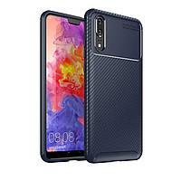 Чехол Carbon Case Huawei P20 Синий