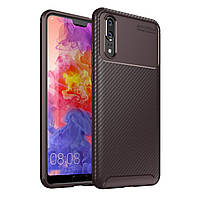 Чехол Carbon Case Huawei P20 Коричневый