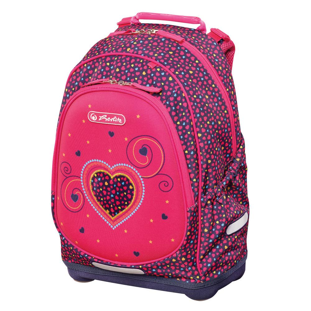 Рюкзак школьный Herlitz BLISS Pink Hearts Сердце (50014002)