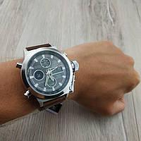 Мужские армейские оригинальные наручные часы Amst silver black am3003 06816