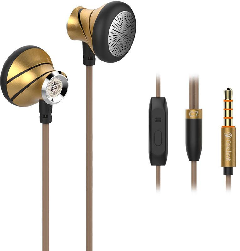 Наушники MP3 Celebrat C7 Original c микрофоном