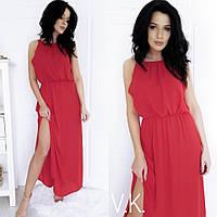 Длинное летнее платье из шифона в расцветках. ВЛ-6-0519