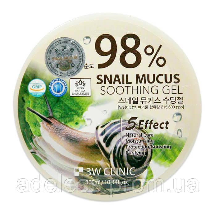 Увлажняющий улиточный гель Mucus Snail Soothing Gel 3W Clinic