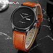 Мужские стильные водонепроницаемые часы CUENA 6646 P04, фото 4