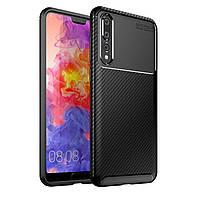 Чехол Carbon Case Huawei P20 Plus Черный