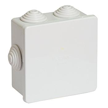 Коробка ответвительная с кабельными вводами 80х80х40, 6 выводов d20мм IP44