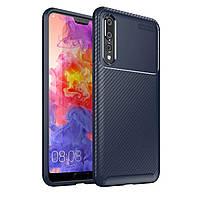 Чехол Carbon Case Huawei P20 Plus Синий