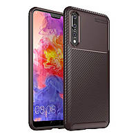 Чехол Carbon Case Huawei P20 Plus Коричневый