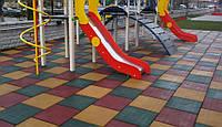 Резиновая плитка для детских площадок , фото 1