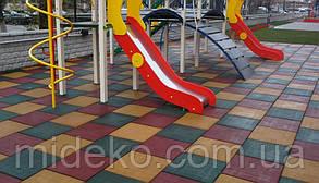 Гумова плитка для дитячих майданчиків