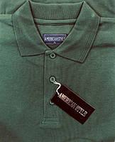 Мужская футболка (тенниска) ПОЛО American Style Темно-Зеленая