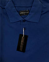 Мужская футболка (тенниска) ПОЛО American Style Темно-Синяя