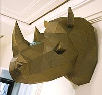 Носорог 3Д модель papercraft, Паперкрафт, Носоріг 3Д модель papercraft