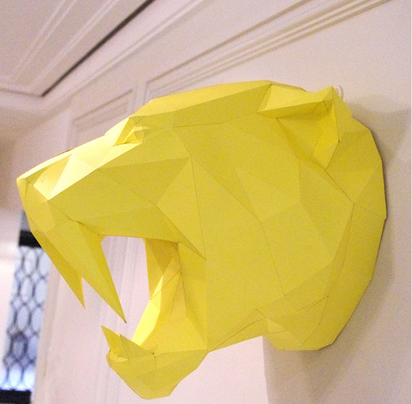 Саблезубый тигр 3Д модель papercraft, Паперкрафт, Шаблезубий тигр 3Д модель papercraft