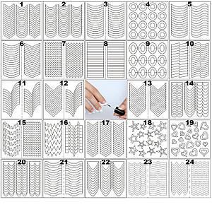 Набор наклеек для маникюра френча 24 вида В упаковке