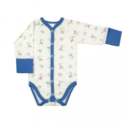 Боди для новорожденных Верес Little Bear blue кулир синий