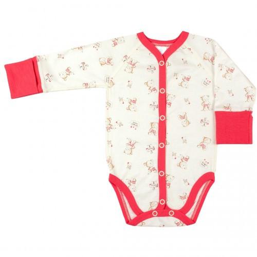 Боди для новорожденных Верес Little Bear pink кулир розовый