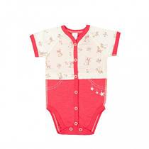 Боди короткий рукав Верес Little Bear pink кулир 56 розовый