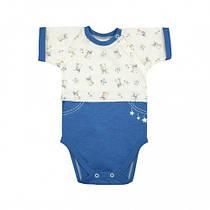 Боди-футболка Верес Little Bear blue кулир синий