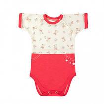 Боди-футболка Верес Little Bear pink кулир 68 розовый