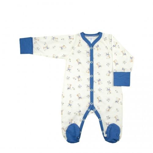 Комбинезон для новорожденных Верес Little Bear blue кулир 56 синий