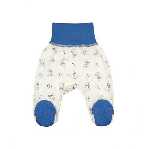Ползунки для новорожденных Верес Little Bear blue кулир синий