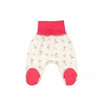 Ползунки для новорожденных Верес Little Bear pink кулир розовый