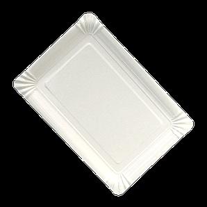 Тарілка паперова прямокутна  ХТ 100шт 15*22см (10/1000) Біла