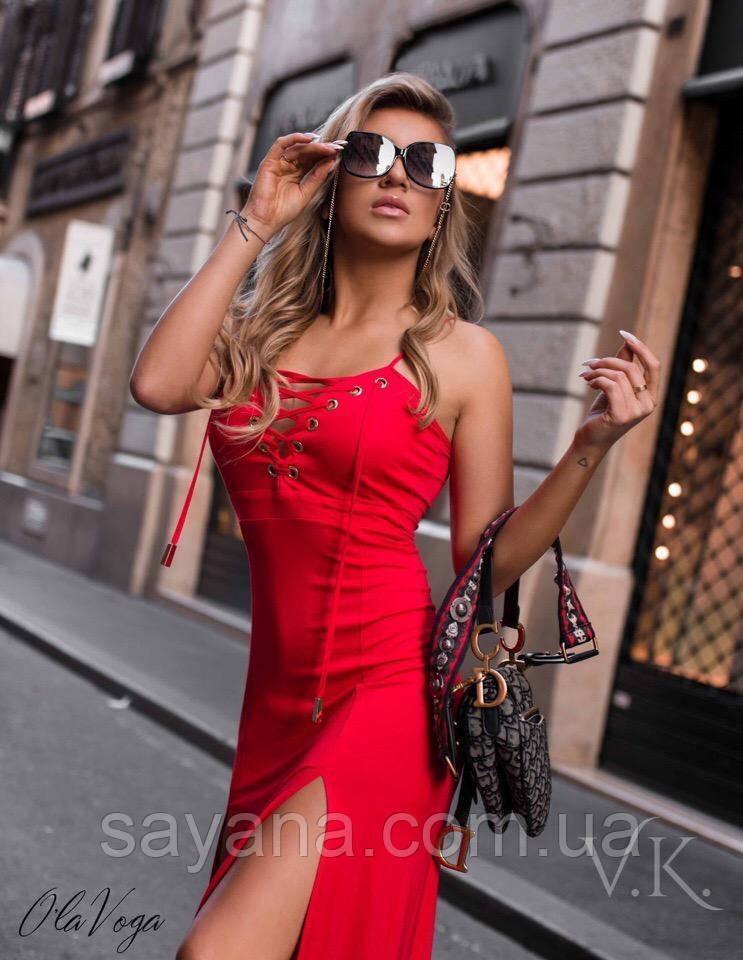 Женское эффектное платье по фигуре в расцветках. ВЛ-9-0519