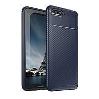 Чехол Carbon Case Huawei Y6 2018 Синий