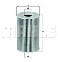 Фільтр масла KNEHT OX388D (1.6TDI/2.0TDI)
