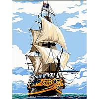 Картина по номерам Фрегат Этуаль де Рой, 30x40 см., Babylon