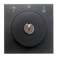Накладка с замком для жалюзийного замочного выключателя Berker B.3/B.7 Антрацит (10811606)