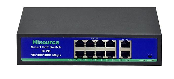 POE комутатор SF0820FB2L 8 портів з блоком живлення в комплекті