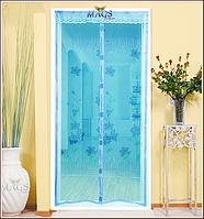 "Антимоскитная штора на дверь 210х90 ""голубой ажур"""