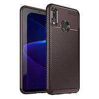 Чехол Carbon Case Huawei Nova 3 Коричневый