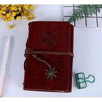 Винтажный блокнот в морском стиле. Красно-коричневый, Подарочные блокноты, Вантажний блокнот в морському стилі. Червоно-коричневий
