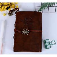 Винтажный блокнот в морском стиле. Коричневый, Подарочные блокноты, Вантажний блокнот в морському стилі. коричневий
