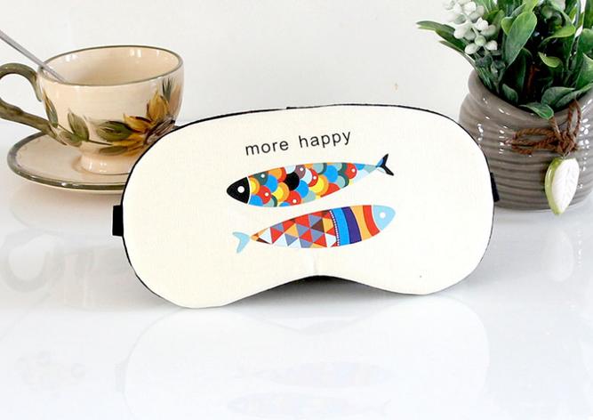 Маска для сна с гелем внутри More Happy (Бежевый) (123773), фото 2