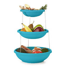 Складная подставка для фруктов Twistfold Party Bow (Голубой) (124017), фото 2