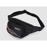 Сумка на пояс для спорта и отдыха. Черный, Поясные сумки, Сумка на пояс для спорту і відпочинку. чорний
