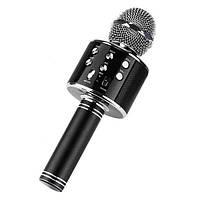 Беспроводной караоке-микрофон WSTER 858 Черный