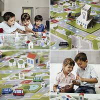 Детская настольная игра Бумажный город, Раскраски для детей, Дитяча настільна гра Паперовий місто