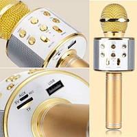 Беспроводной караоке-микрофон WSTER 858 Золотой