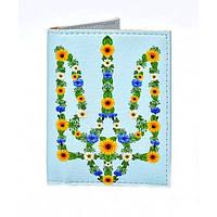 Обложка на ID паспорт Цветочный Герб, Обложки на пластиковые права, Обкладинка на ID паспорт Квітковий Герб